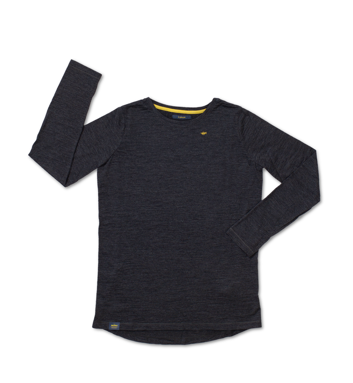 Long Sleeve Shirt Women's charcoal merino wool